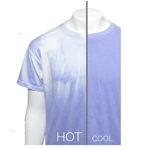 Blue to White Color Changing Shirt