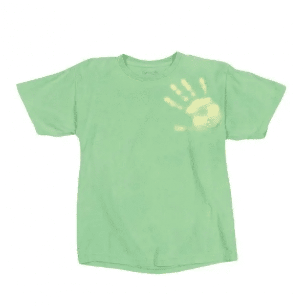 Color Changing Green to Yellow Shirt