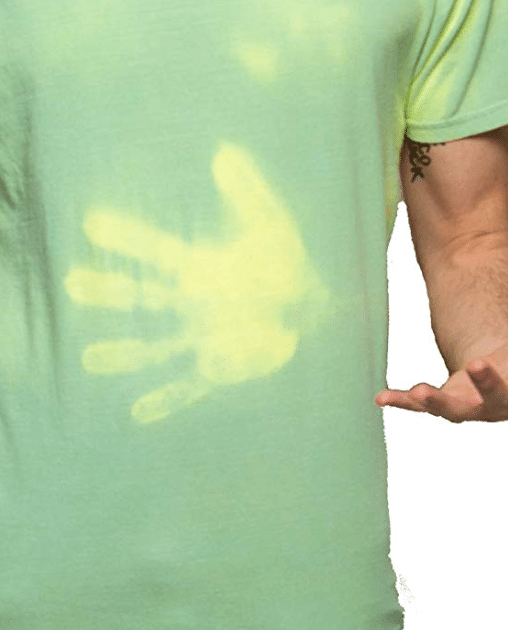 Color Changing Green Yellow Shirt