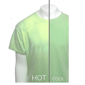 Green Yellow Color Temp Change Shirt
