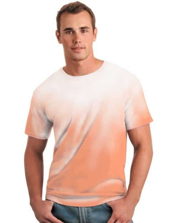Color Changing Orange White Shirt
