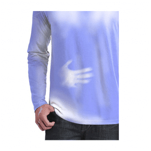 Long Sleeve Blue White Hypercolor Shirt