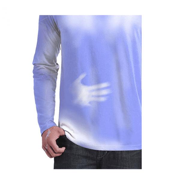 Long Sleeve Blue White Hypercolor Shirt