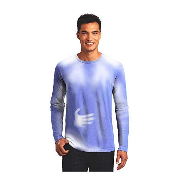 Long Sleeve Hypercolor Blue Adult Shirt