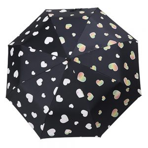 Hypercolor Heart Print Umbrella