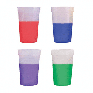 Hypercolor Color Changing Cups (set of 12)